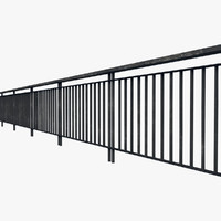 3ds max resolution railing fence