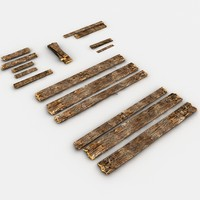 Broken Wooden Planks Collection second version