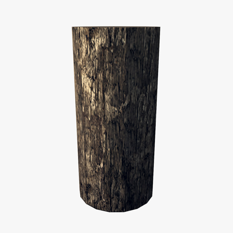 resolution wooden bollard obj