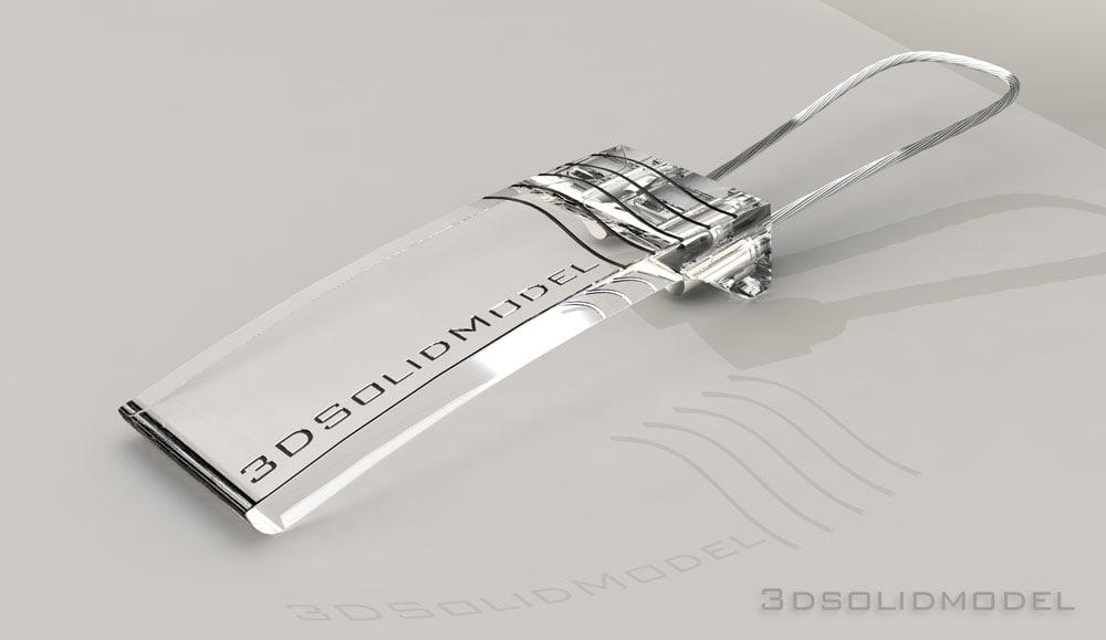 3d key ring model