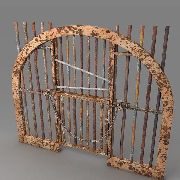 prison door metal 3d model