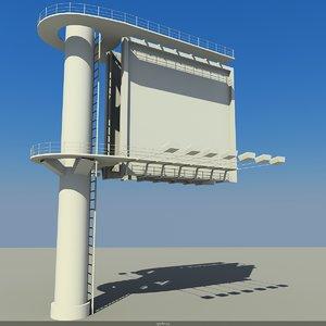 3d model billboard elements citys
