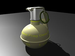 3ds max m67 hand grenade