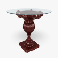 184-A Glass Top Table 2 in 1
