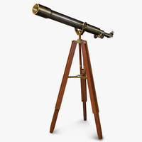 telescope office 3d obj