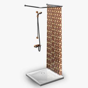 maya shower retro 3dgm