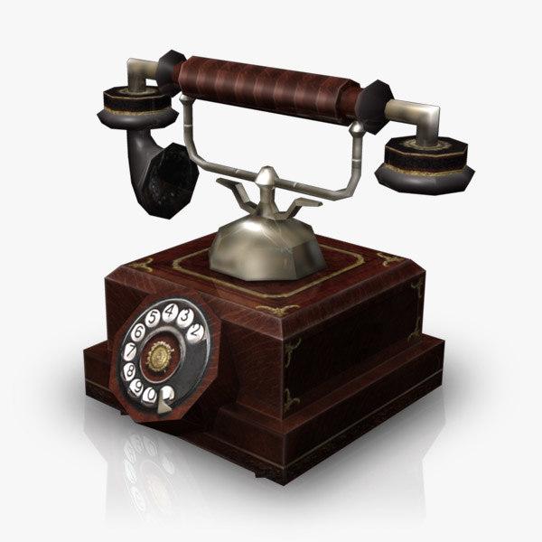 phone antique obj