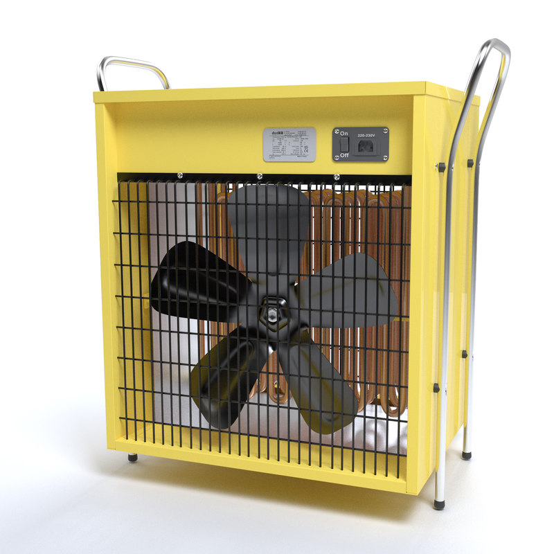 electric fan heater obj