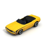 1969 chevy camaro convertible 3d model