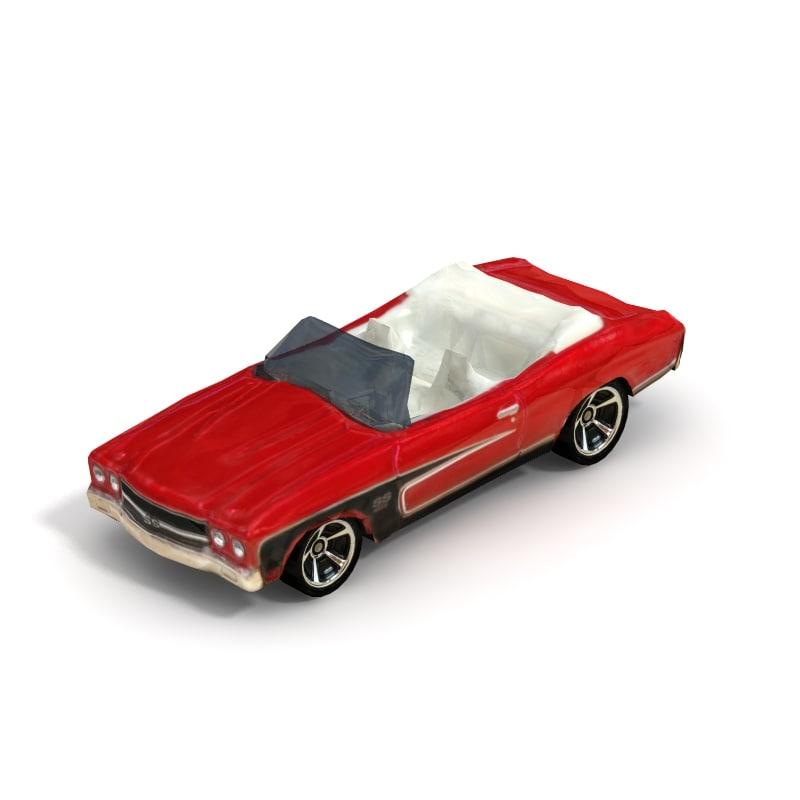 3d model 1970 chevelle ss convertible