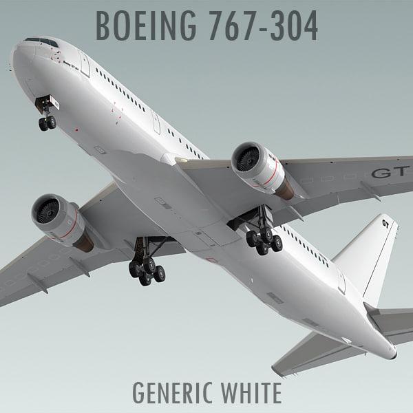 boeing 767-304 generic white max