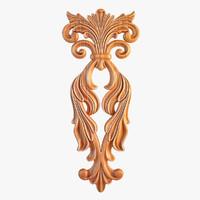 carved decorative element 3d max