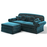 classic velvet sofa 3d x