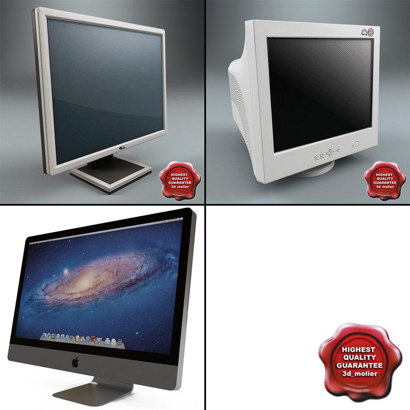 computer monitors v2 3d c4d