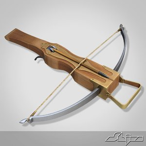 3d medieval crossbow model