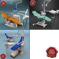 3d model of dental chairs