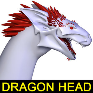 lwo realistic dragon head