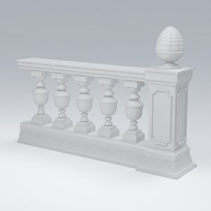 balustrade 3d max