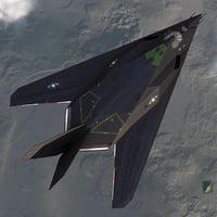 F 117 NightHawk V2 Rigged