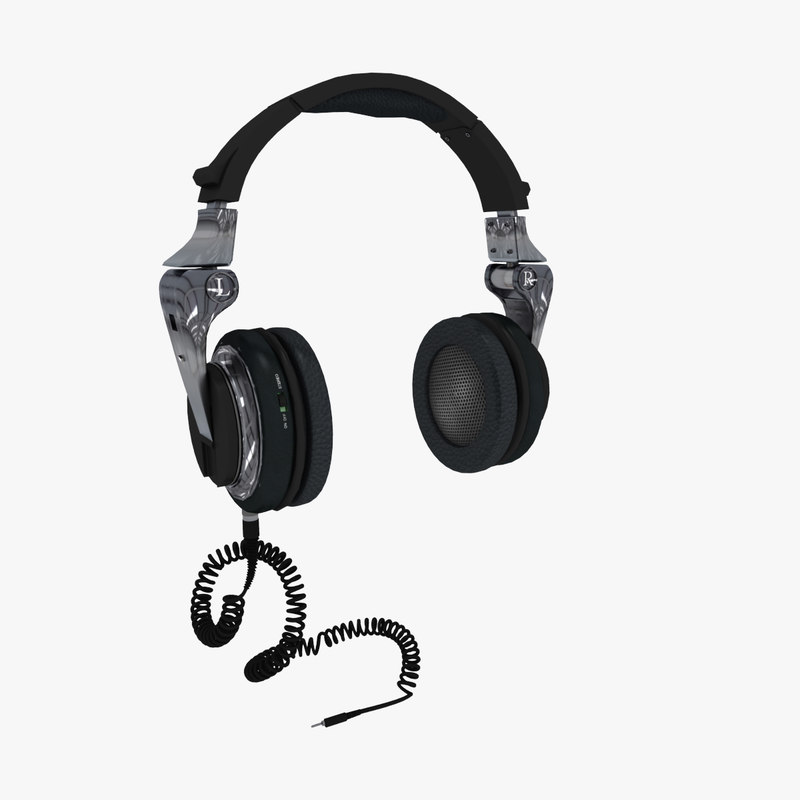 3ds max headphone pair small