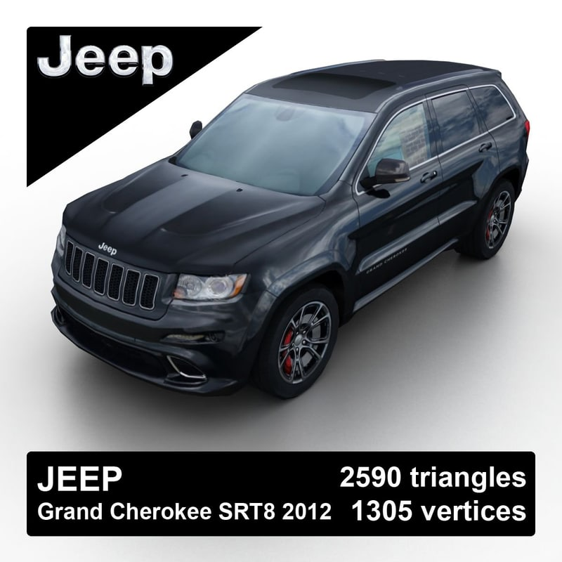 3d 2012 jeep grand cherokee model