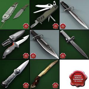 3d model knives 6