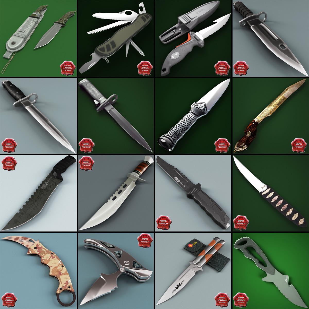 3d model knives knife
