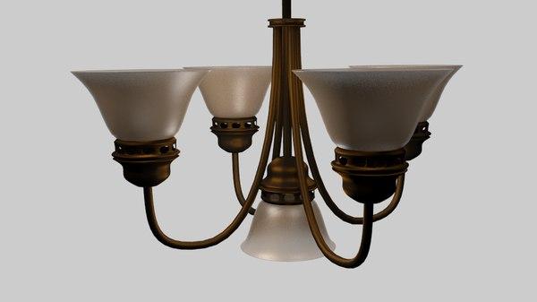 free ceiling lamp chandelier 3d model