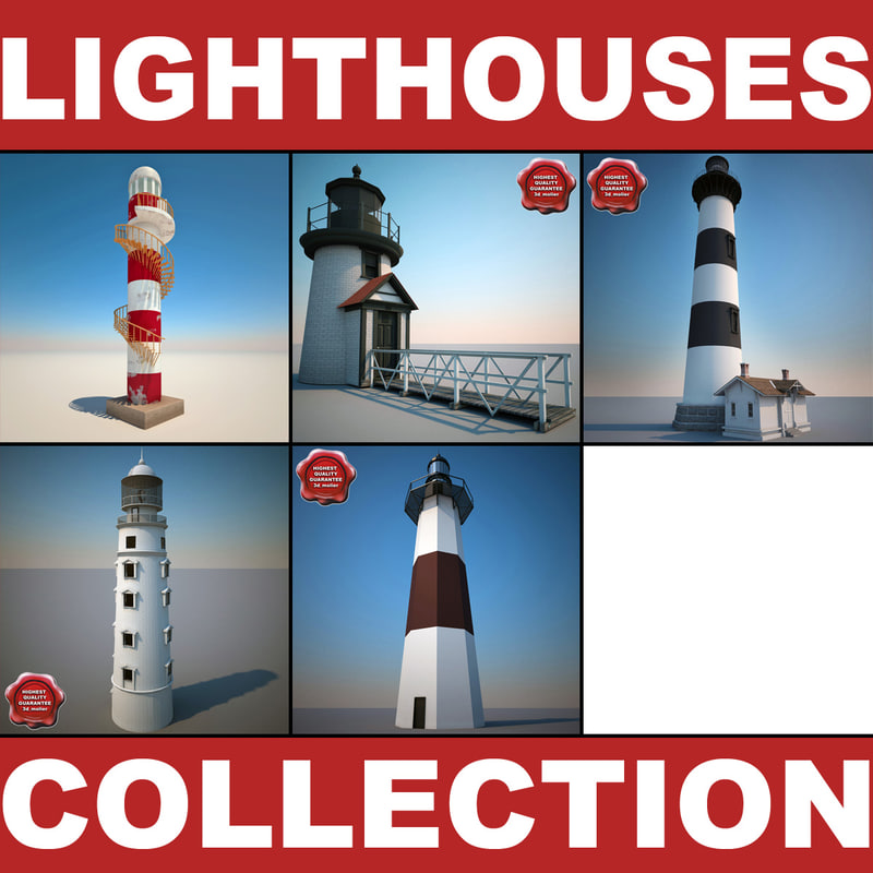 c4d lighthouses modelled
