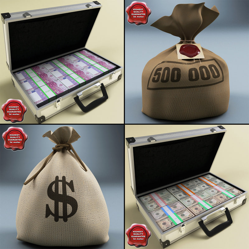 3d money bags v2
