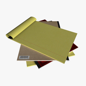 3d a4 note pads model