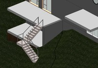 3d model railing adaptive staircase