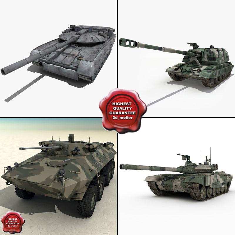 3d russian tanks