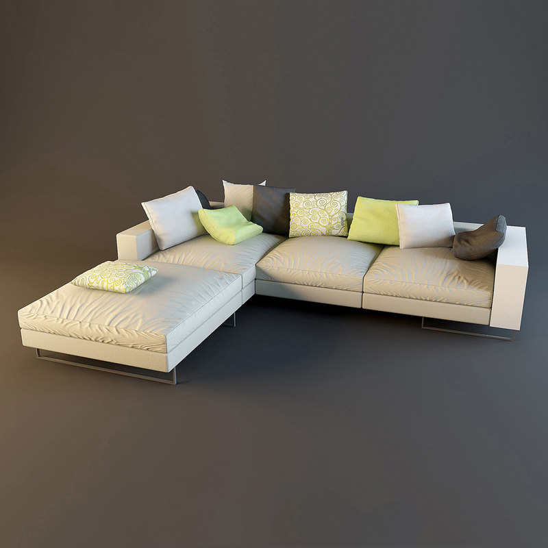 sofa lightpiece design flexform 3d model