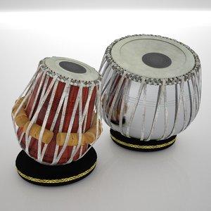 tabla drums 3ds