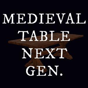 gen medieval table 3d obj