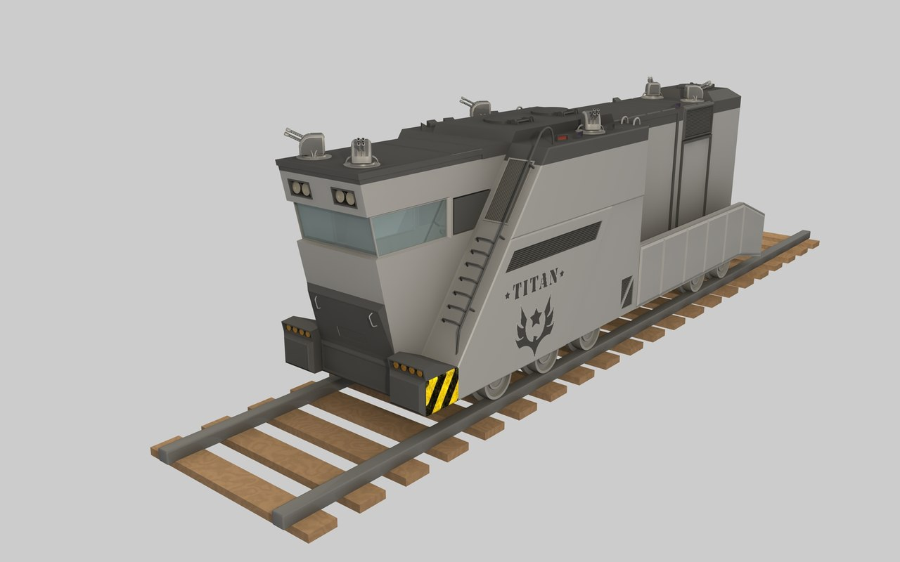 3ds max army train titan
