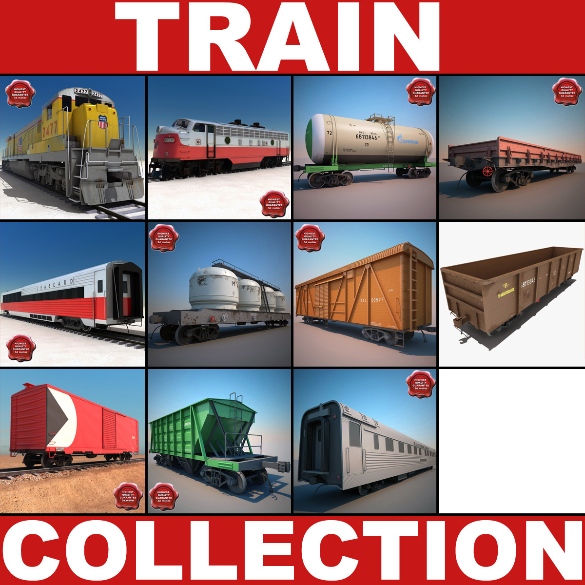 trains v4 3d model