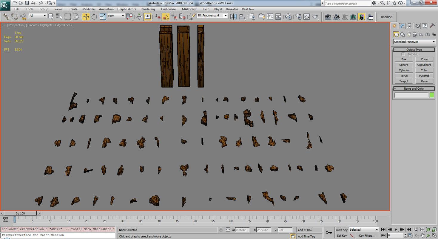 Wood Debris for VFX
