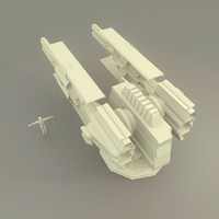 3d scifi cannon model