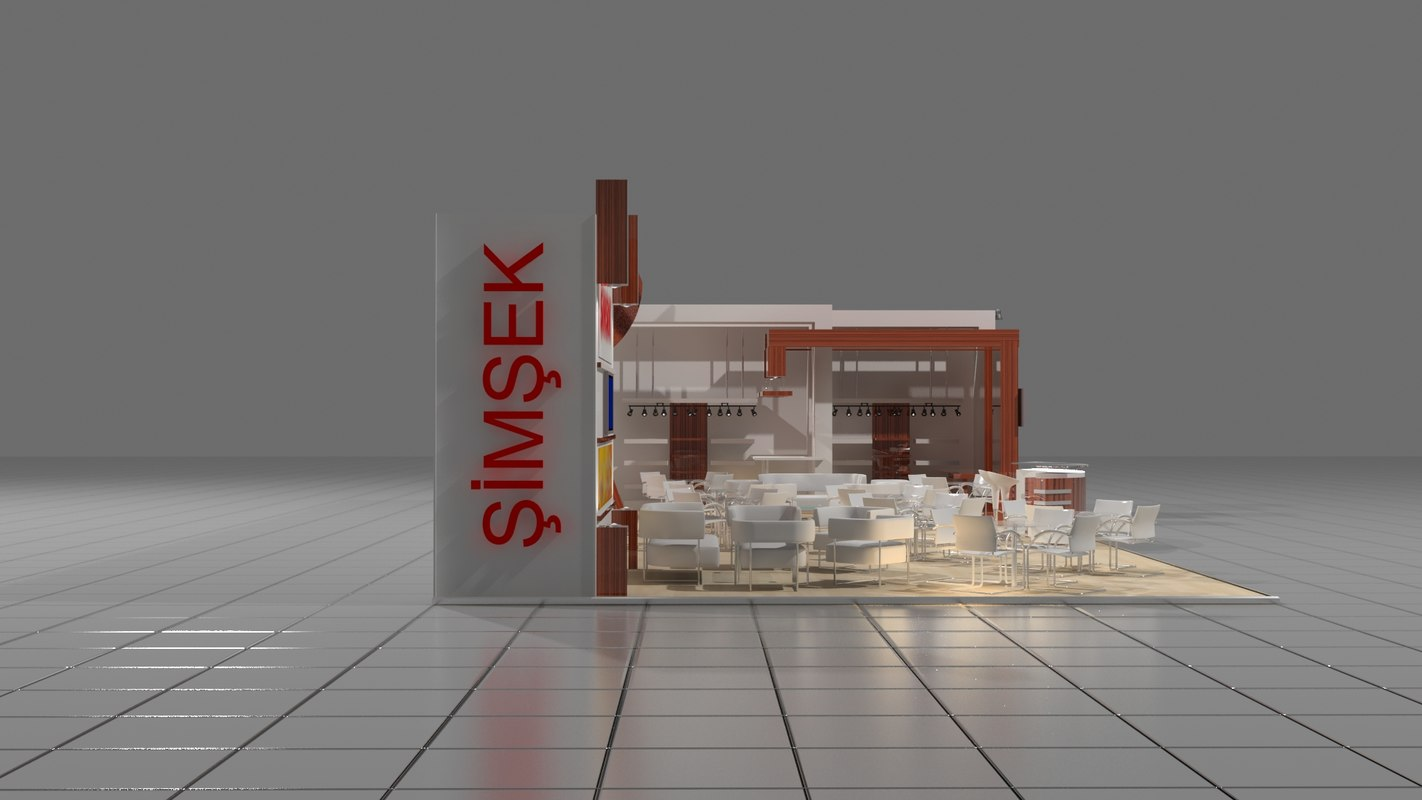 simsek exhebition design exhibition 3d model