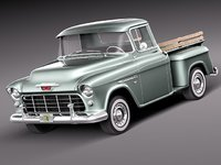 3d chevrolet pickup 1955 antique