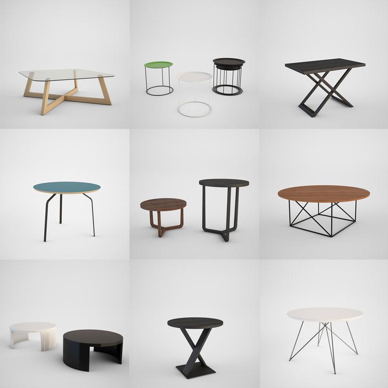 3d Model Coffee Table Set