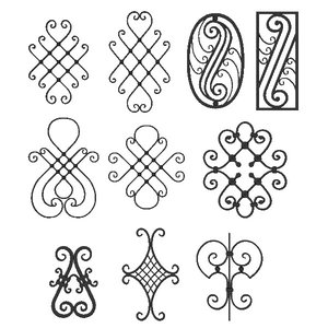 3ds max wrought iron elements