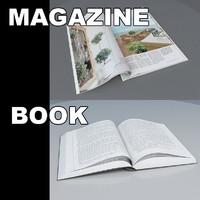 magazine book 3d max