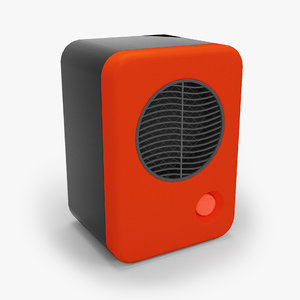 3d model personal heater