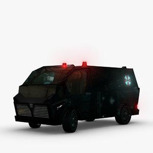 maya futuristic fbi police van