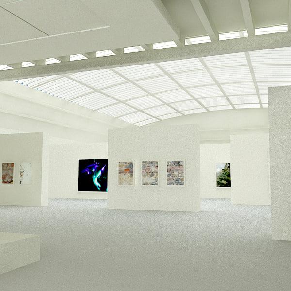 3d art gallery model
