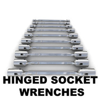 Hinged socket wrenches