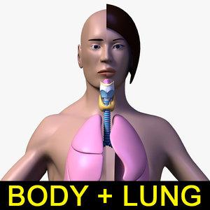 human female male body 3d max
